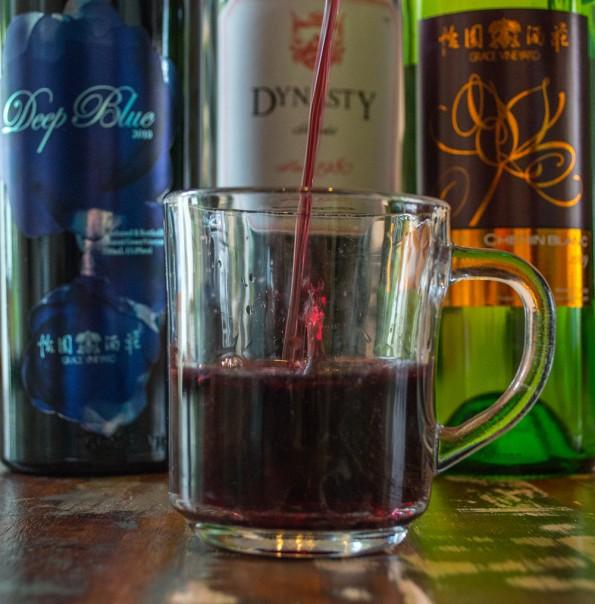 theeglas wijn