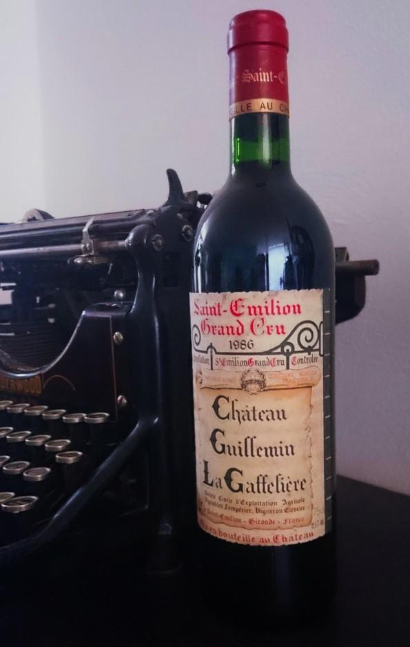 fles saint emilion wijnjaar 1986