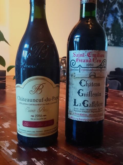 flessen wijnjaar 1986