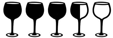 drie en een half wijnglas