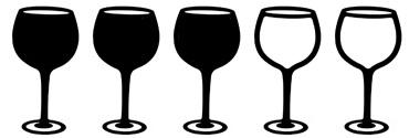drie wijnglazen