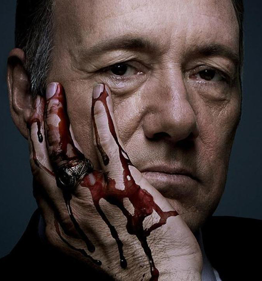 House of Cards bloed Frank Underwood