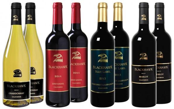 Blackhawk Zinfandel Merlot Cabernet Sauvignon Chardonnay Wijnbeurs