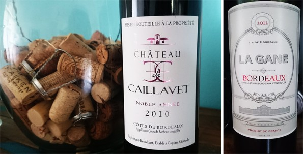 Bordeaux wijnetiketten