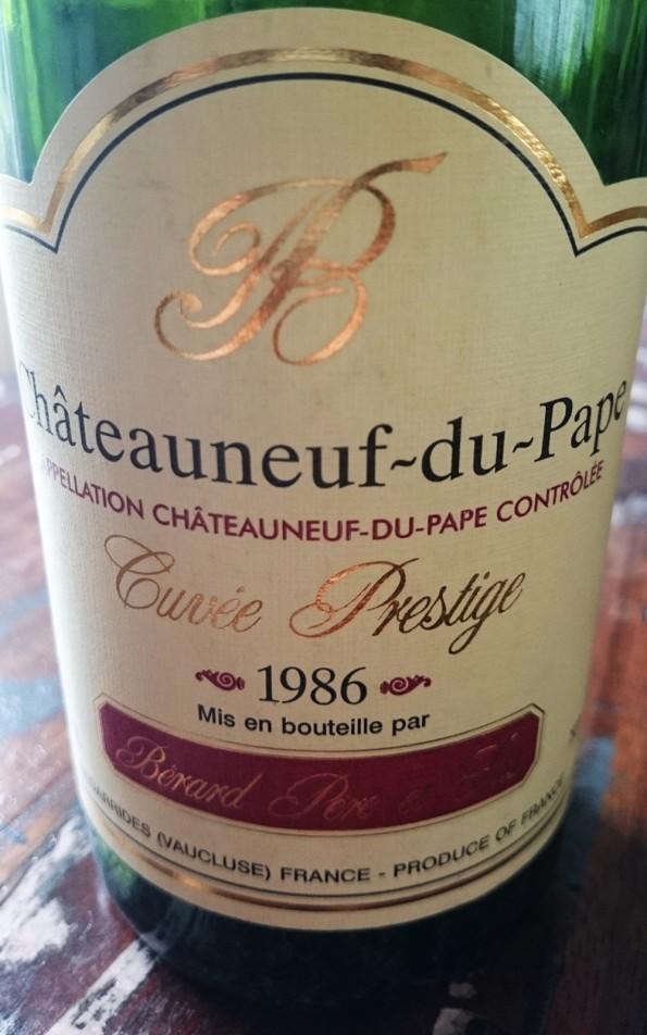 wijnetiketten chateauneuf du pape