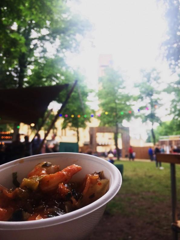 garnalen op foodtruck festival