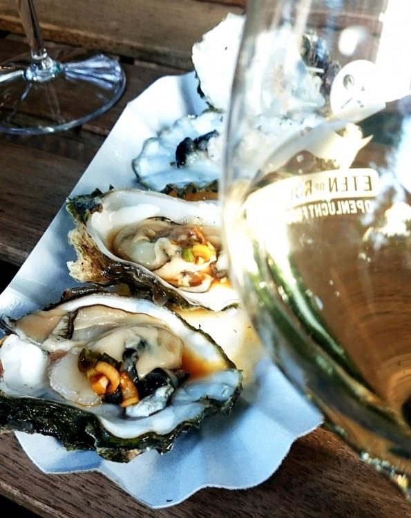 oesters en wijn foodtruck festival