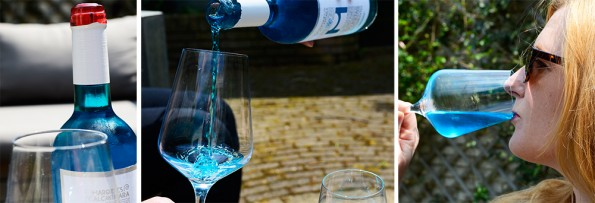 compliatie blauwe wijn vino azul