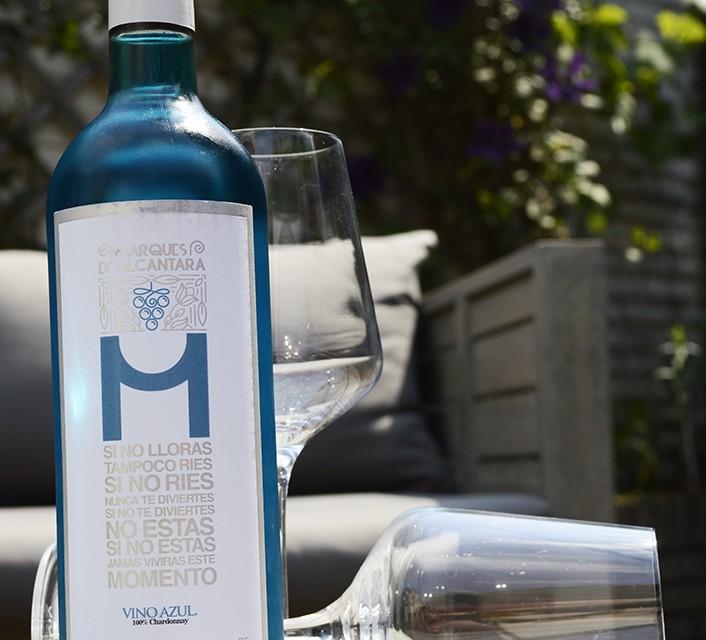 blauwe wijn vino azul