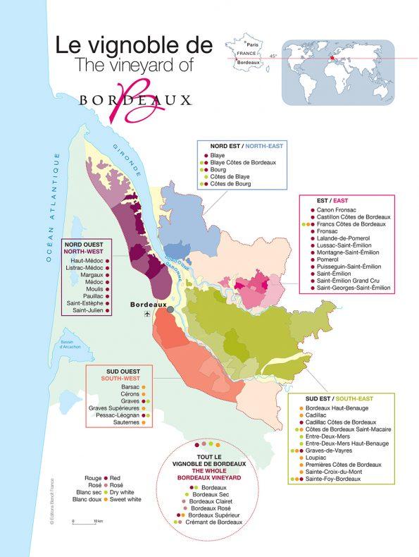 Wijnreis Bordeaux kaart