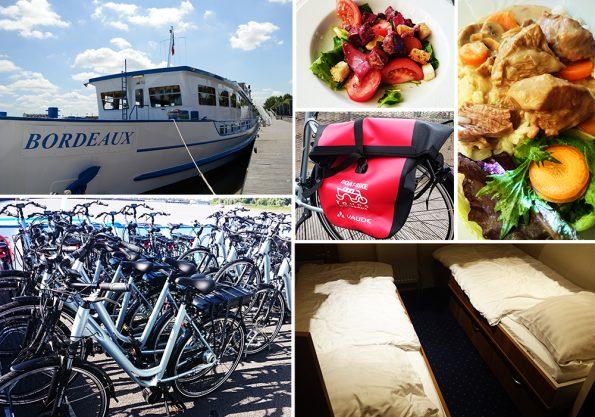 boat bike overzicht wijnreis