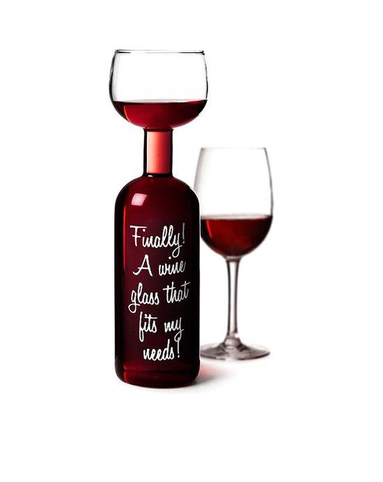 sinterklaascadeau wijnflesglas