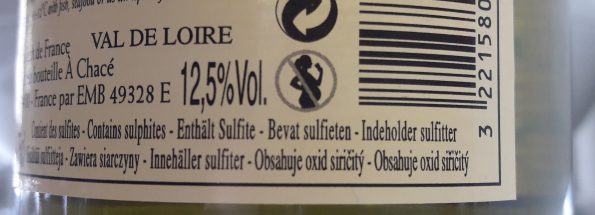 sulfiet etiket