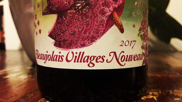 Beaujolais Nouveau liggend etiket