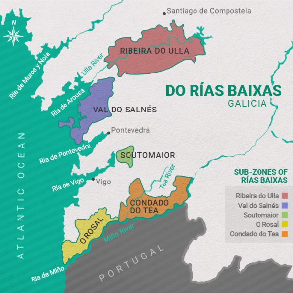 Rias Baixas map