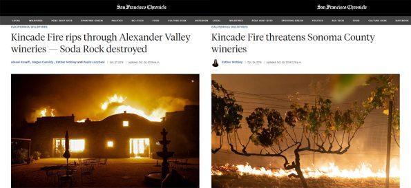 Kincade Fire Wine Country 4